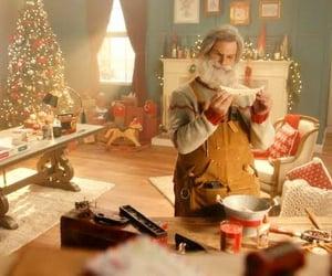 christmas, santa, and workshop image