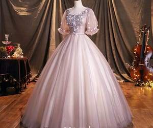 ball gown, beading, and elegant image