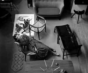 Photo by dark noir on March 15, 2021. May be a black-and-white image of furniture and indoor.
