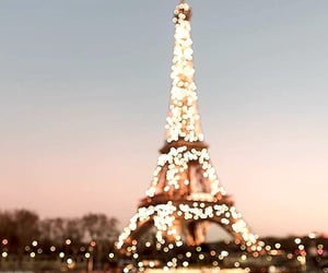 Sparkling night at Paris Eiffel Tower.