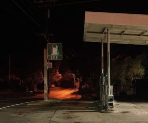 creepy, gas station, and horror image
