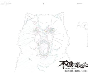 anime, draw, and wolf image