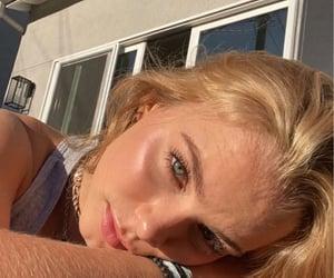 blonde, blue eyes, and selfie image