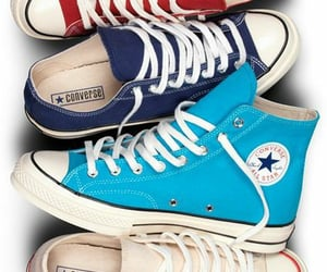black, blue, and convers image