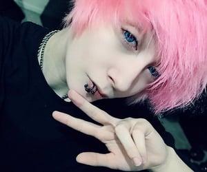 eboy, Piercings, and pink hair image