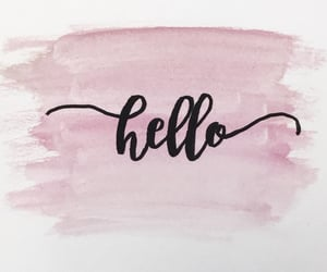 calligraphy, paint, and pink image