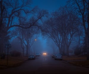 blue, driving, and night image