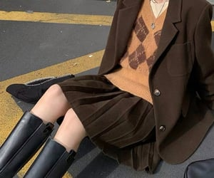 brown, post, and skirts image