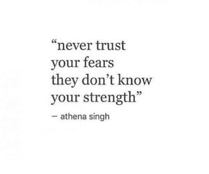 quotes, fear, and words image