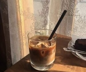 aesthetic, iced coffee, and cafe image