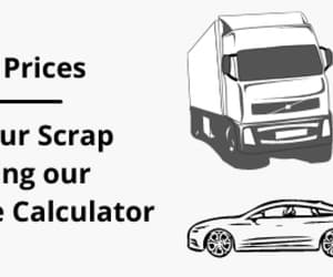 scrap car prices, old car valuation, and used car value calculator image