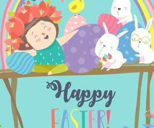 easter, happy, and wish image