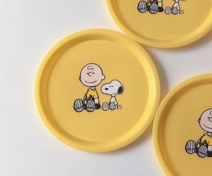 aesthetic, plates, and snoopy image