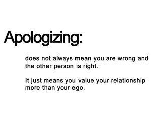Relationship and apologizing image