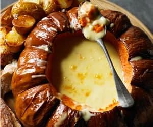 Warming Pumpkin Soup Served with Crispy Roast Potatoes