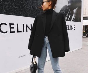 black, celine, and fashionista image