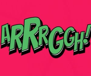 typography, words, and arrrggh image