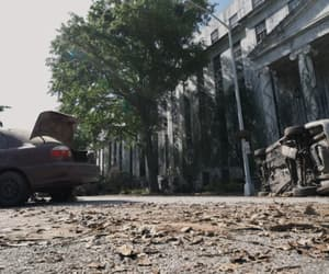 apocalypse, street, and the walking dead image