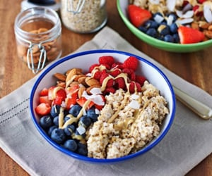 food, almond, and breakfast image