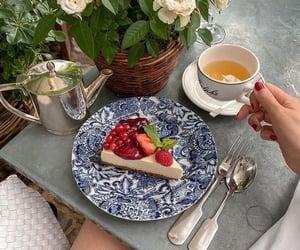 berries, cherries, and roses image