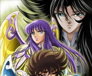 anime, athenas, and seiya image
