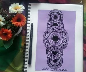 art, mandala, and artist image