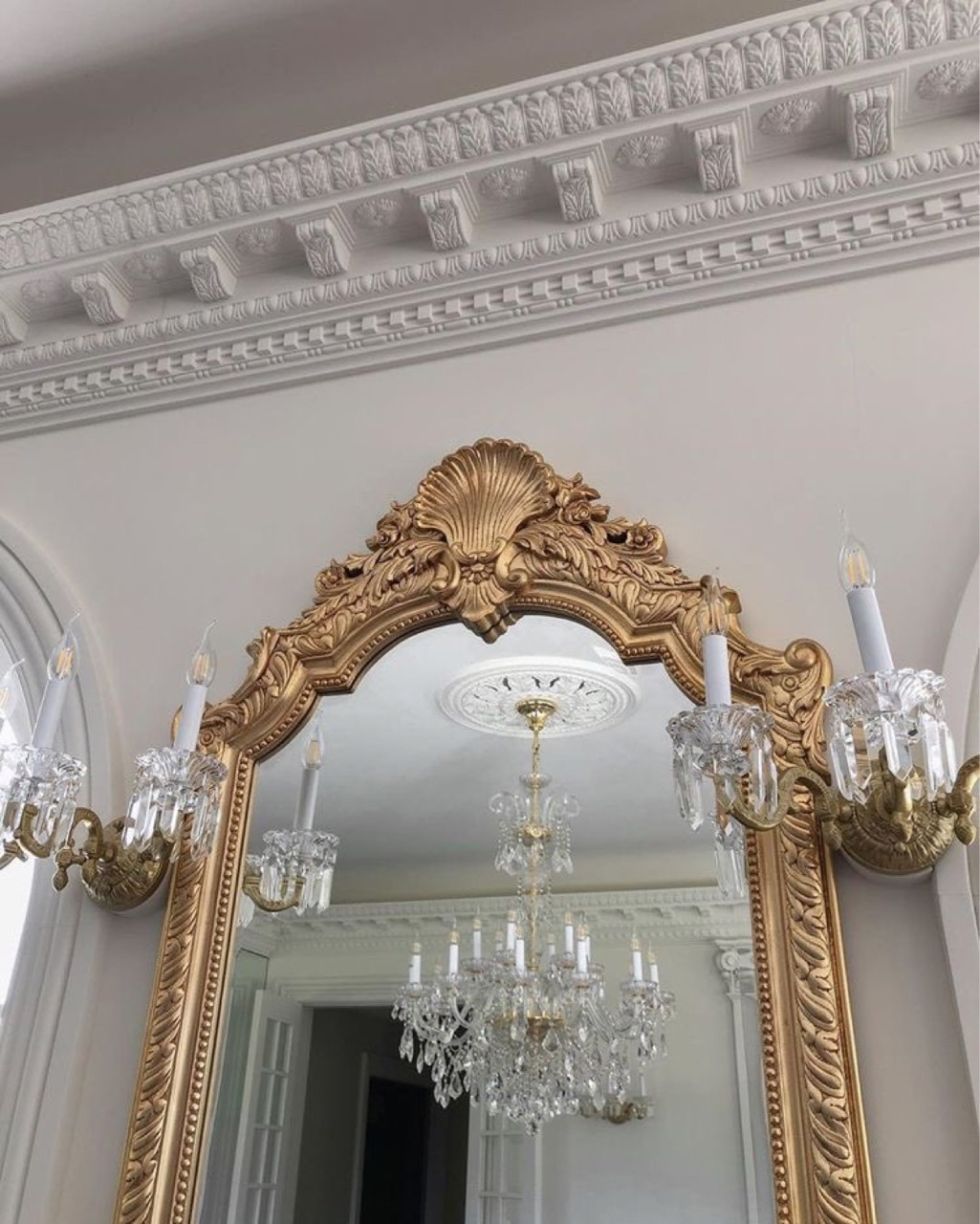 mirror, interior, and gold image