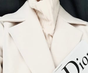 coat, magazine, and dior image