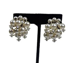 etsy, vintage earrings, and vintage image