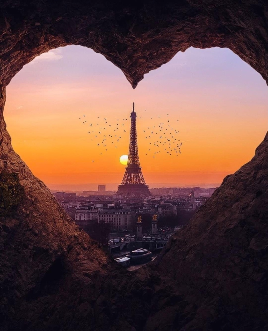 paris, heart, and travel image
