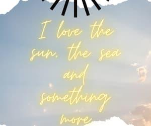 beach, sea, and story image