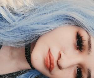 aesthetic, grunge, and pastel blue image
