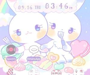 bunny, screensaver, and pastel image