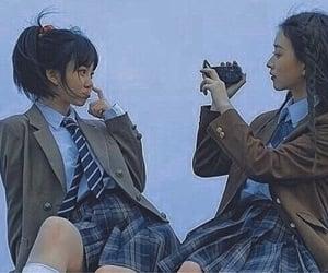 girls, retro, and school image