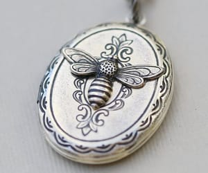 jewelry, locket, and busy bee image