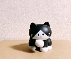 black, toy, and white image