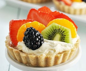 food, pastry, and fruit image