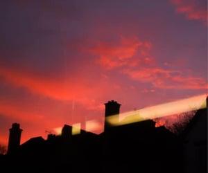 Birmingham, sunset, and public transport image