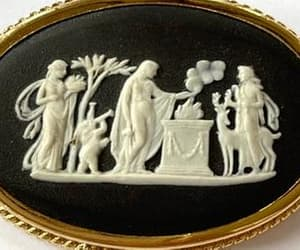 etsy, vintage brooch, and wedgwood pin image