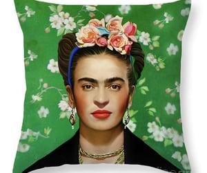 flowers, kahlo, and Frida image