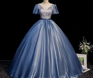 backless, ball gown, and fashion image