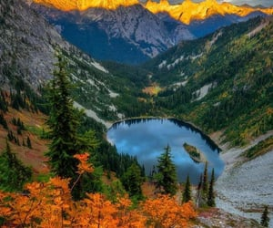 autumn, home, and lakes image