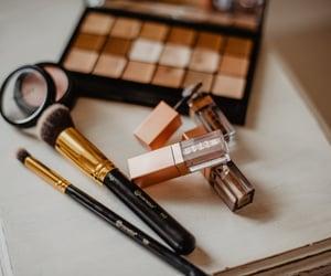 Brushes, makeup, and makeup artist image