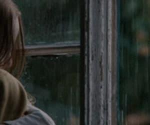 brown hair, rain, and gif image