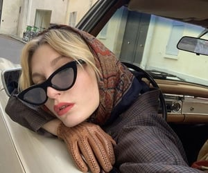 aesthetic, blonde, and glasses image