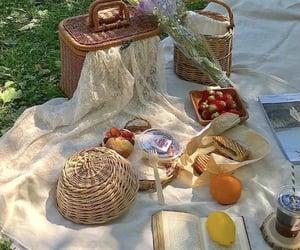 picnic, cottagecore food, and cottagecore image