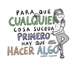 feliz, frases español, and vida image