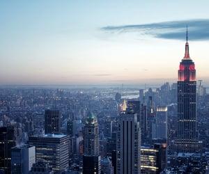 city, new york, and sky image