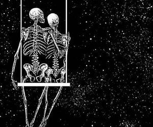 romantic, skeleton, and art image