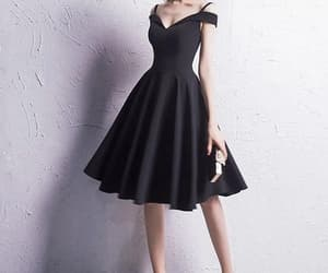 little black dress, party dress, and prom dress image